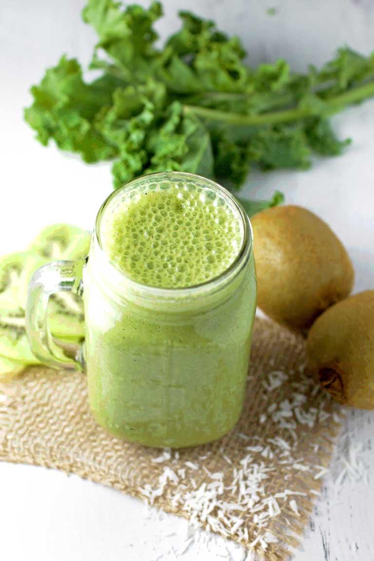 Kale Kiwi Grape Oats